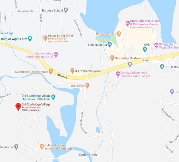 Map of Sturbridge Village