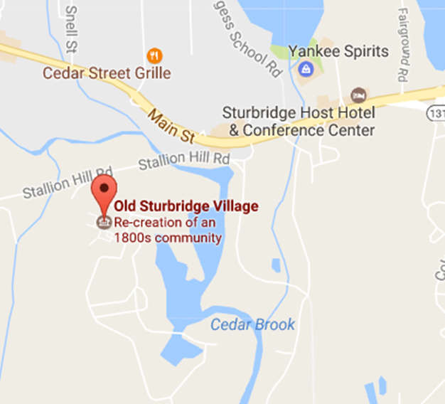 Map of Sturbridge Village