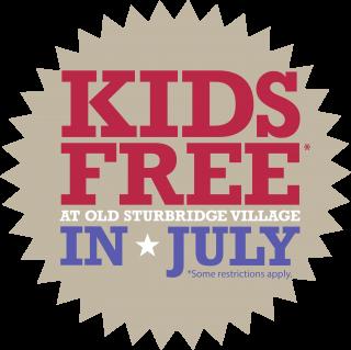 Kids Free at Old Sturbridge Village in July