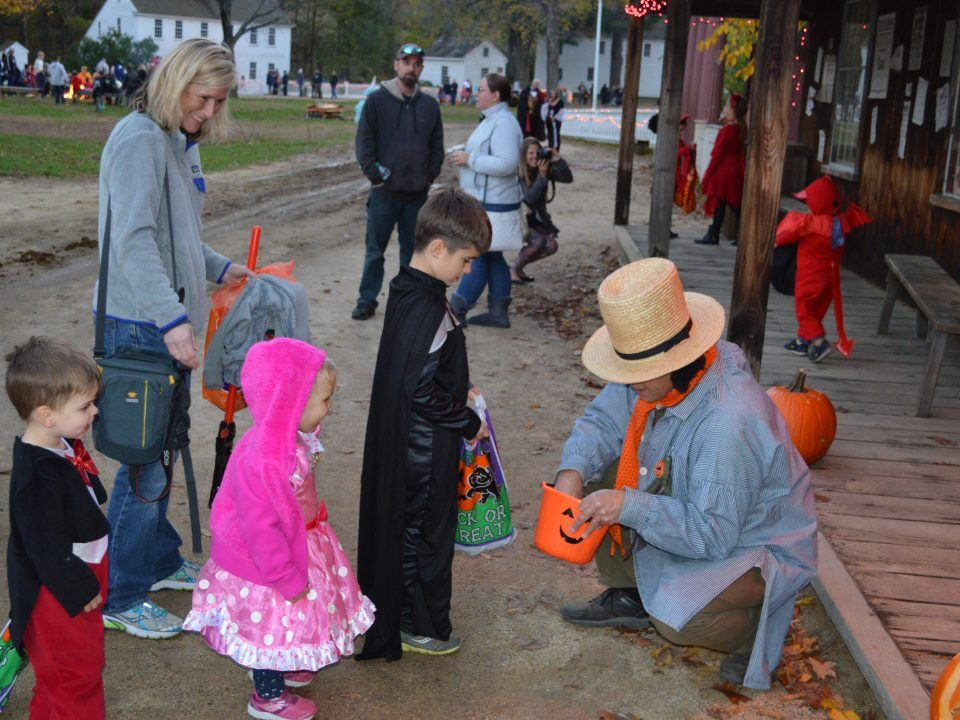 Trick or Treating at Miner Grant