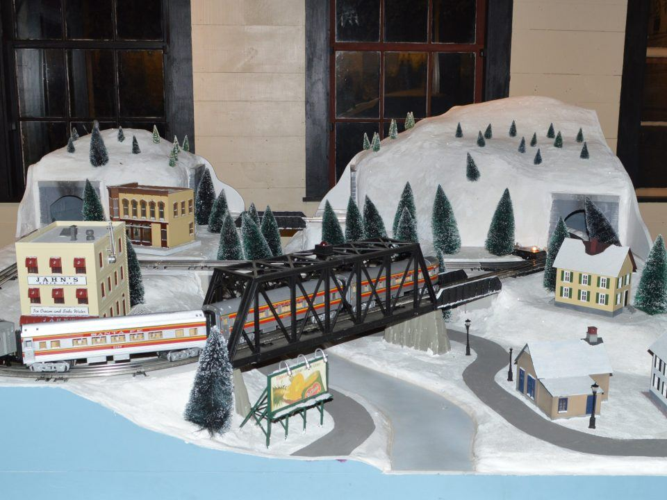 See an expansive miniature train display, including trains originally seen in the movie Joy