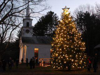 The Christmas Tree outside the Center Meetingouse