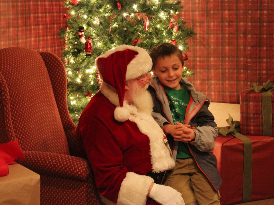 Youngsters can meet Santa!