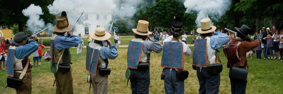 Militia firing