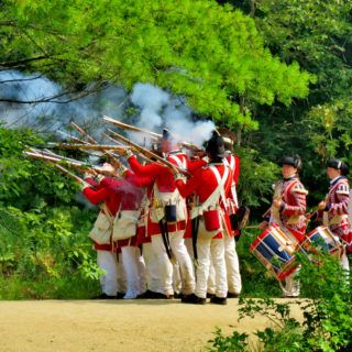 A group of Redcoat soldiers