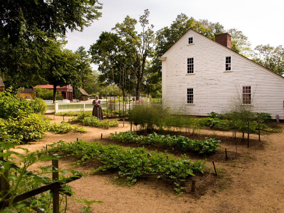 A view of the Parsonage Garden at Old Sturbridge Village