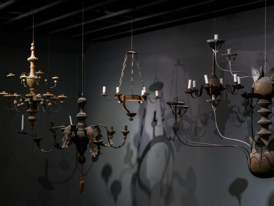 Some items in the Early Lighting Exhibit
