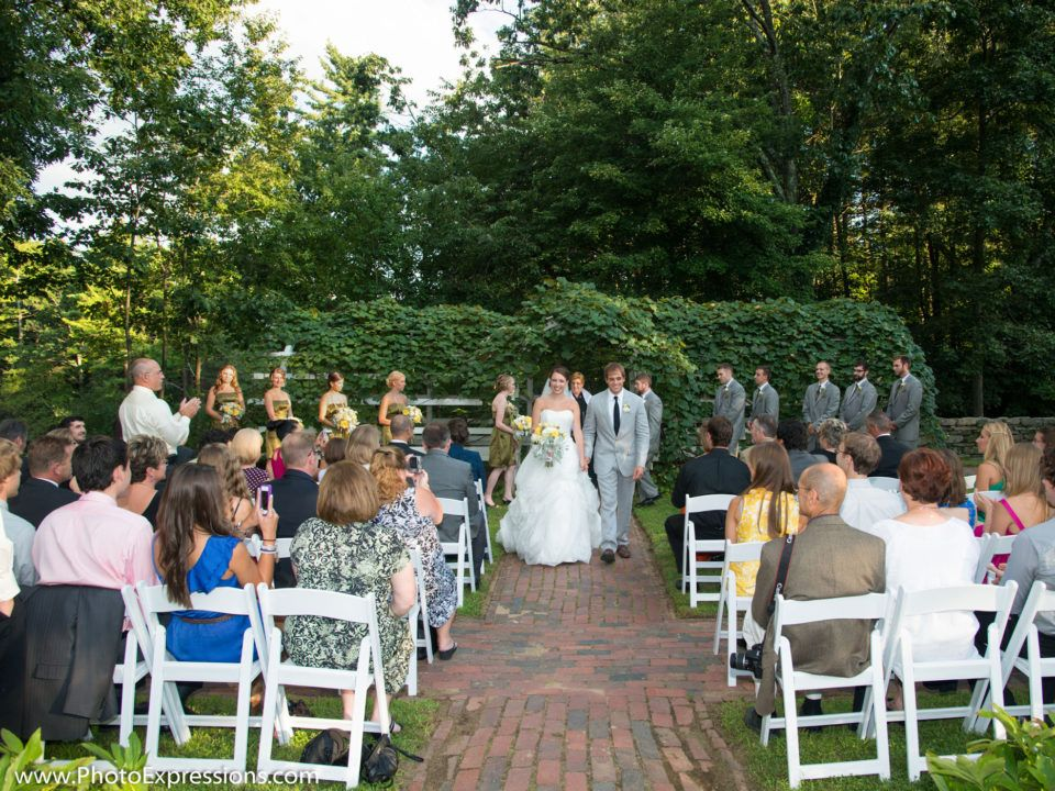 A wedding ceremony in the Salem Towne Garden