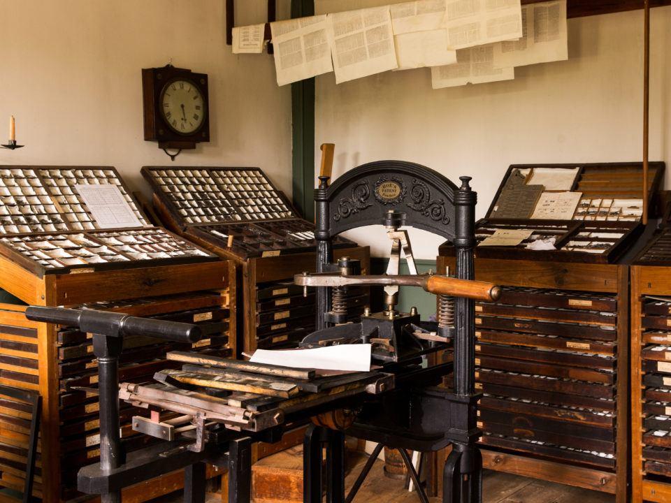Print Shop Interior