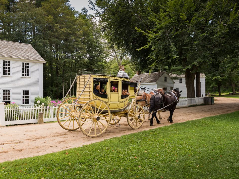 Riding the Stagecoach around the Village Common