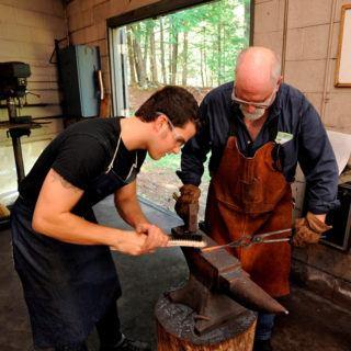 Learning basic blacksmithing techniques