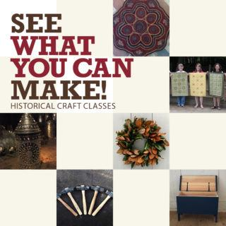 Historical Craft Classes collage