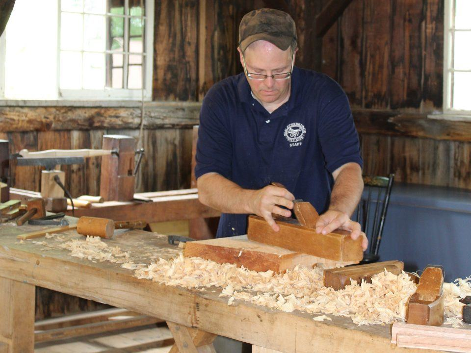A Woodworker hard at work