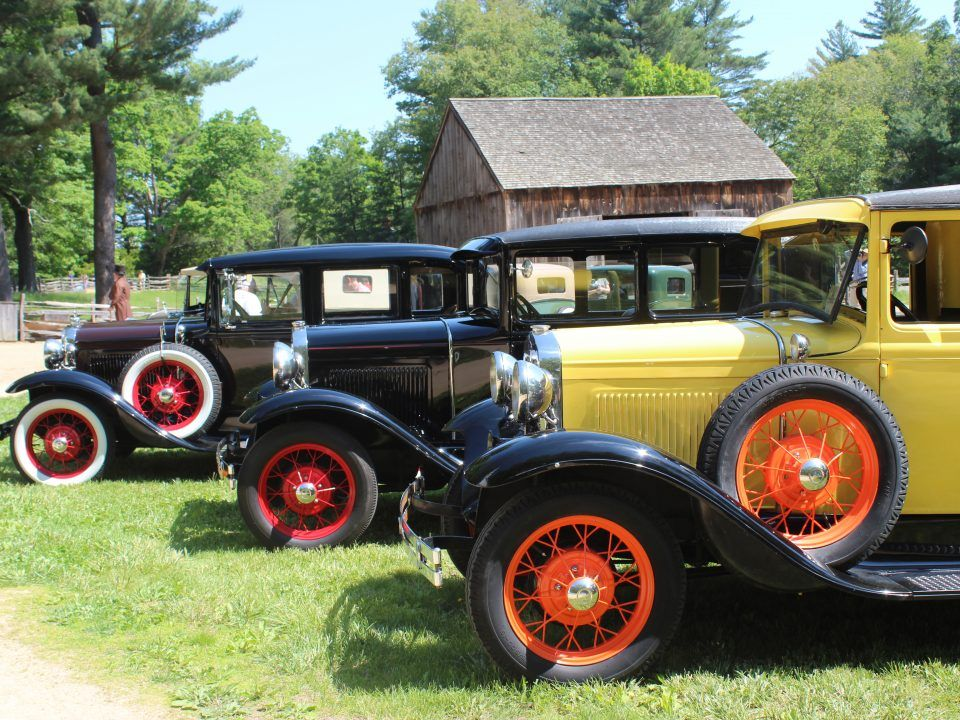 Antique cars on the Village Common