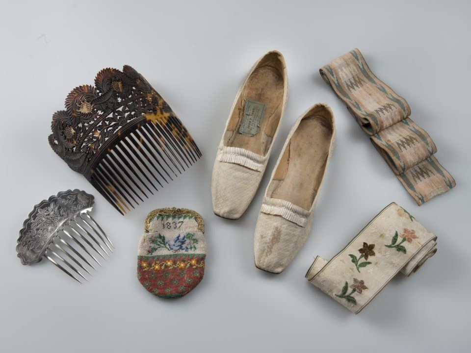Various accessories from the OSV Collection, like shoes, combs, etc.