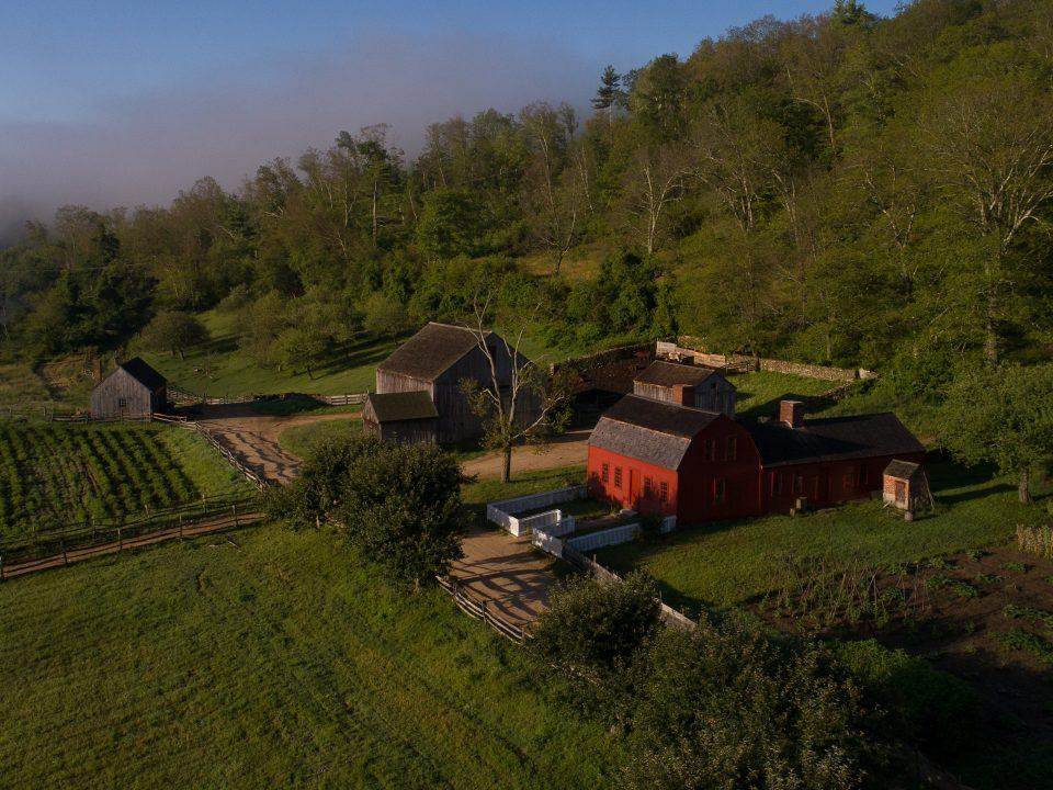 The Freeman Farm From Above