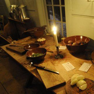 Food Being prepped in the Parsonage