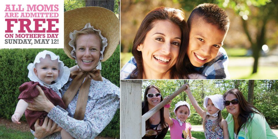 All moms get in for FREE on Mother's Day, May 12