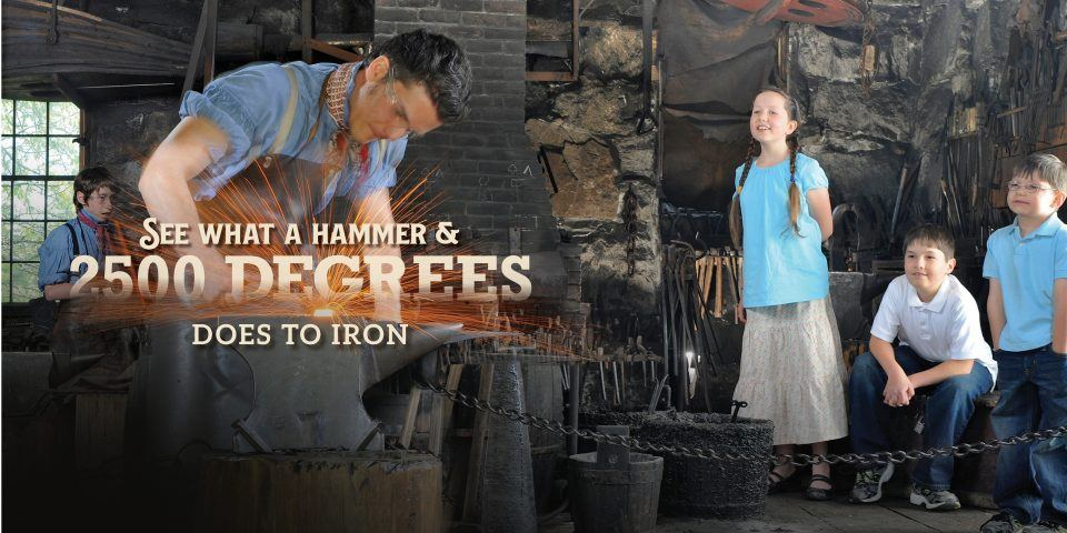 See what a hammer and 2500 degrees does to iron