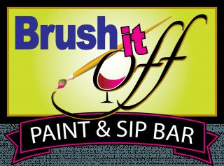 brush it off paint & sip logo