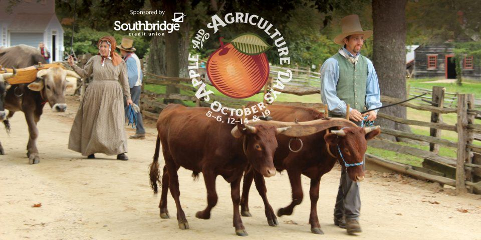 Apple & Ag Days at OSV - Farmers with Oxen