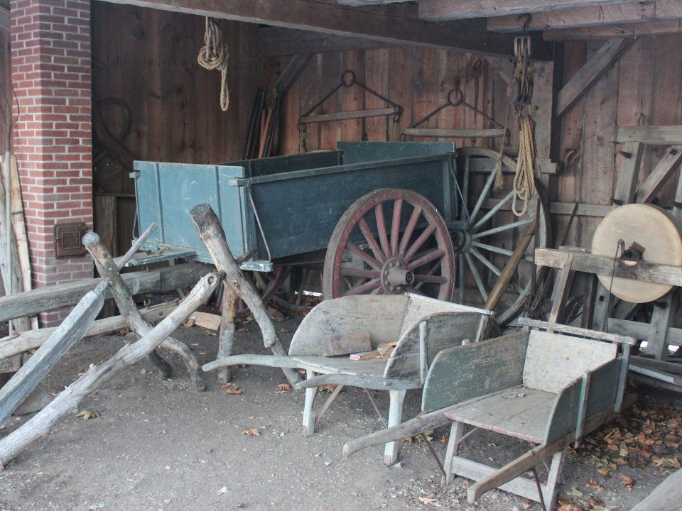 Coggeshall Farm - Ox Cart and tools