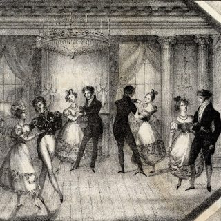 An illustration of an early 19th-century ball