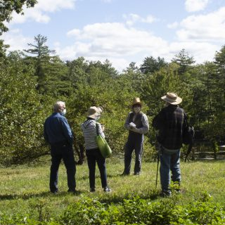 Members learn about the orchards