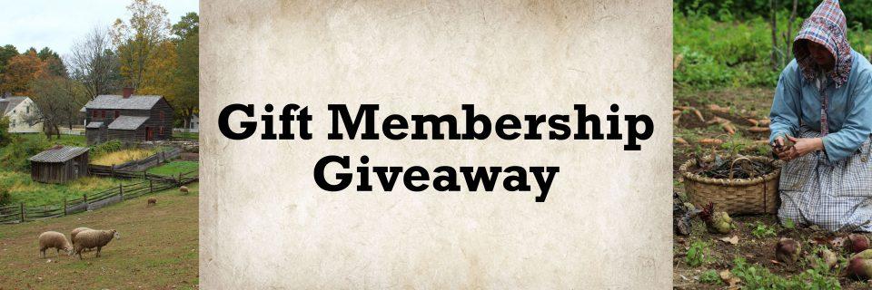 Gift Membership Giveaway