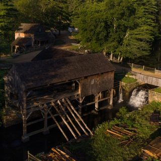 Sawmill exterior from above