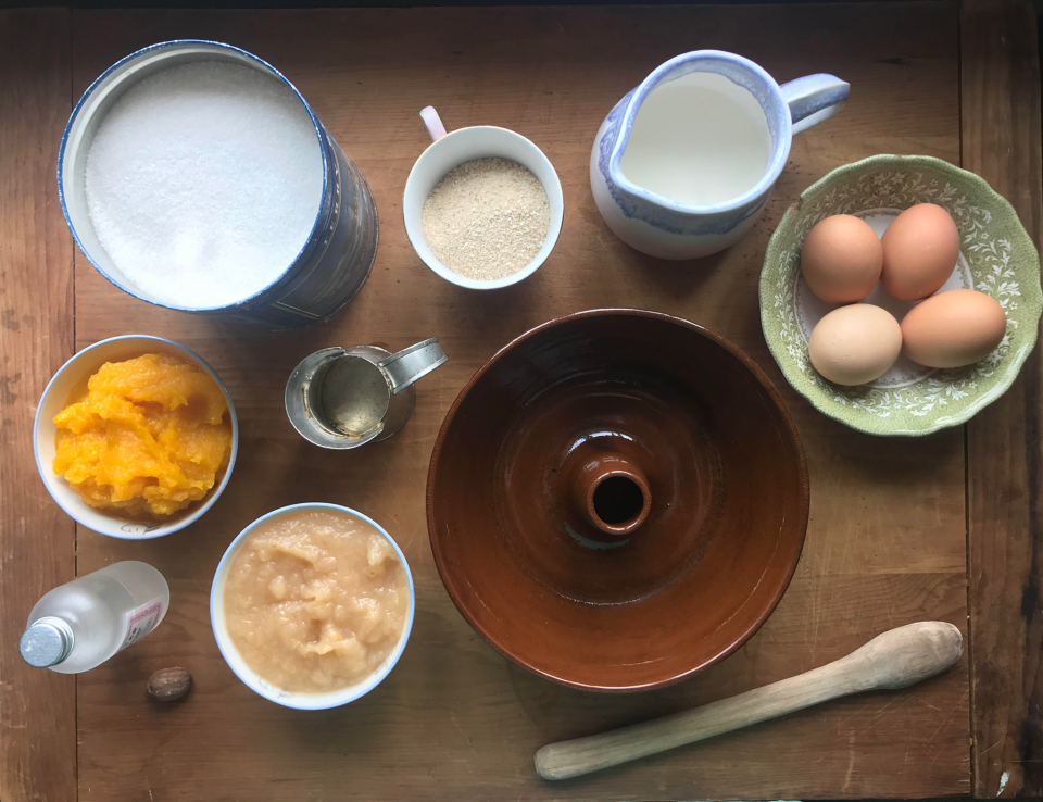 ingredients for squash pudding