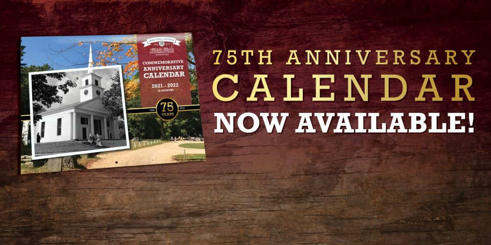 75th Anniversary Calendar Now Available