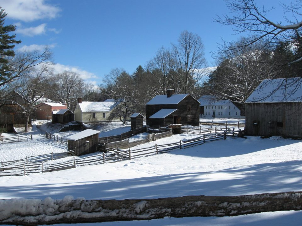 Fenno and Fitch Houses on a Winter Day