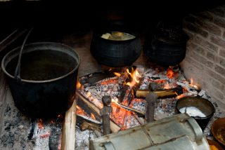 Pots over the fire